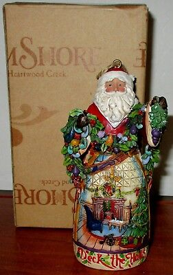 Jim Shore 2011 Deck The Halls Santa Ornament  Heartwood Creek  Collection
