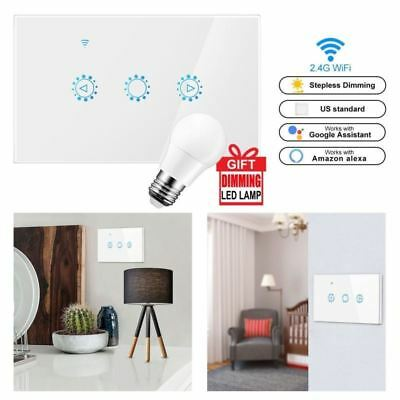 Smart Light Dimmer In Wall Touch Control WiFi Light Switch For Alexa Google New