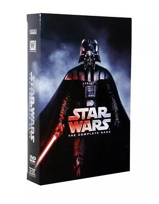 Star Wars: Complete Saga 1-6 (DVD, 12-Disc Set)US seller Fast shipping Brand new