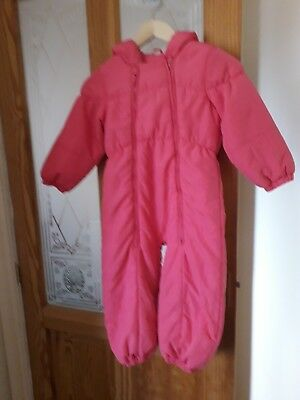 Girls NEXT Salmon Pink Snow Suit Age 3-4