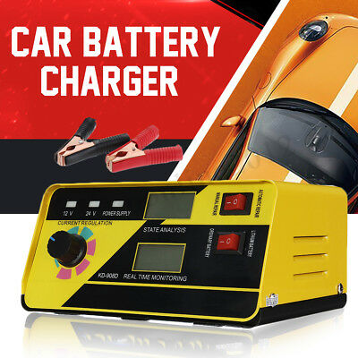 12/24V 20A Intelligent Battery Charger Pulse Repair Car Motorcycle Wet Lead Acid