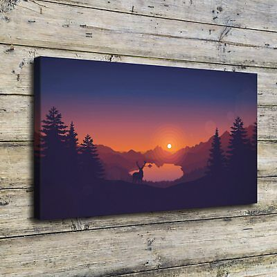 """12""""x22"""" Firewatch Pictures HD Canvas prints Painting Home decor Wall art Posters"""