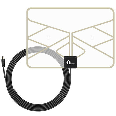 1byone 0.5 mm Paper Thin TV Aerial Amplified Indoor TV Antenna Digital Indoor HD