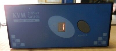 2 Port VGA Dual Monitor KVM Switch with PS/2 (SV221DD)