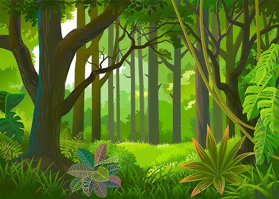 10X8FT VINYL BACKGROUND Studio Backdrop Prop Tropical Green Dense Jungle  Scenery - $7.59 | PicClick