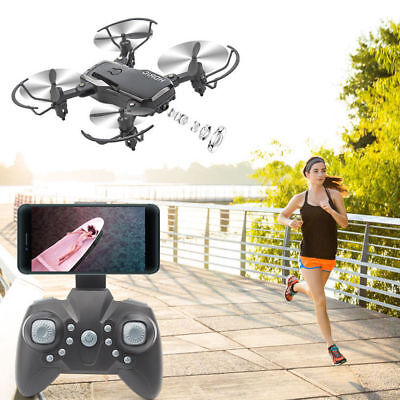 Mini D2WH Foldable RC Quadcopter 2.4G 6Axis HD Camera WIFI FPV Portable Drone