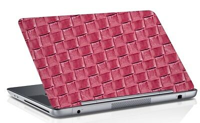 Check Universal Laptop Skin Cover Mauve Art Vinyl Decal Fits 14.1 to 15.6 Inches