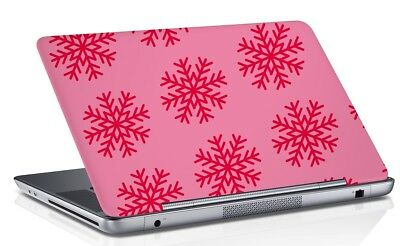 Floral Printed Laptop Skin Cover Pink Removable Vinyl Fits 14.1 to 15.6 Inches