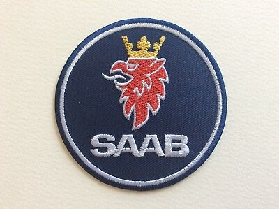 A275 Patch Ecusson Saab Bleu 8 Cm