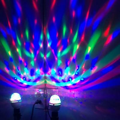3W E27 RGB Crystal Ball Rotating LED Stage Light Bulbs Disco Party Bulb Best