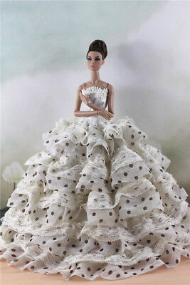 Fashion Party Dress/Wedding Clothes/Gown For 11 in. Doll d35