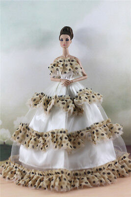 Fashion Party Dress/Wedding Clothes/Gown For 11 in. Doll d36