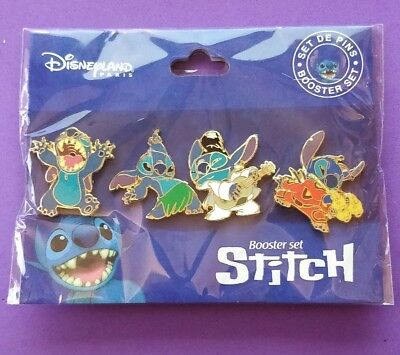 Disney Trading pins Stitch  booster set