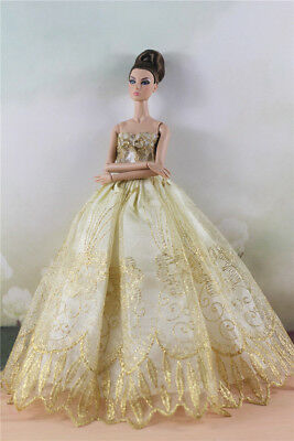 Fashion Party Dress/Wedding Clothes/Gown For Barbie Doll d51