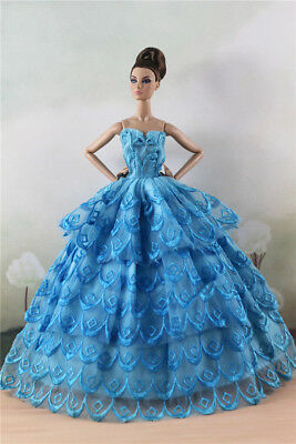 Fashion Party Dress/Wedding Clothes/Gown For 11 in. Doll d53