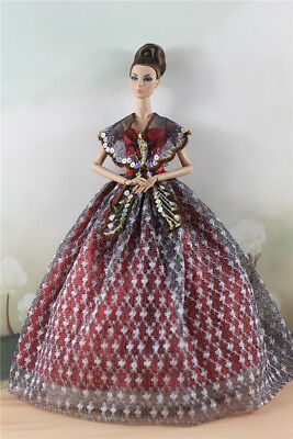Fashion Party Dress/Wedding Clothes/Gown For 11 in. Doll d57