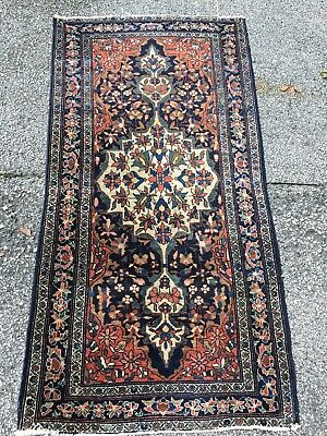 ANTIQUE 1900s Tribal Ferahan Rug Kazak Very Rare 2.5x5