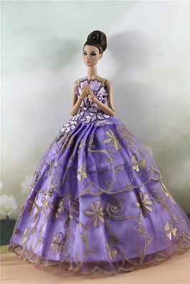 Fashion Party Dress/Wedding Clothes/Gown For 11 in. Doll d59