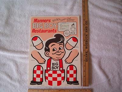1 Manner's Big Boy NOS Punch out puppet