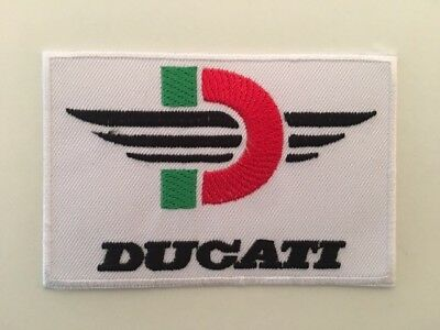 A365 Patch Ecusson Ducati Blanc 9,5*6 Cm
