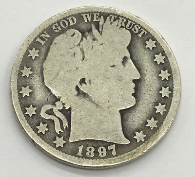1897-O New Orleans Barber Silver Half Dollar Better Date
