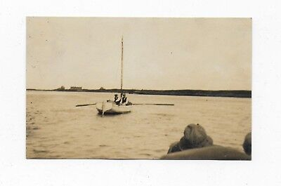Benbecula South Uist Outer Hebrides Post Boat Rp Postcard 1930S Shipping