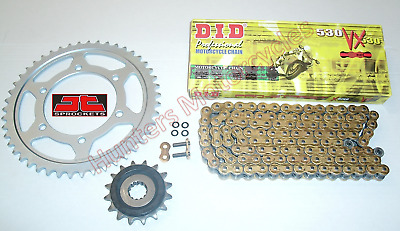 Yamaha YZF- R1, DID Gold X-Ring Chain & JT RB Front & Rear Sprockets Kit Set
