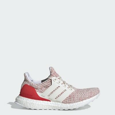 d019a6a6c5fbf Adidas Women Running Ultra Boost 4.0 Chalk White Red Lifestyle Gym New  DB3209
