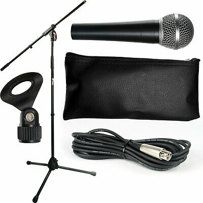 Microphone and Stand Set with Cable Package - Warehouse Clearance