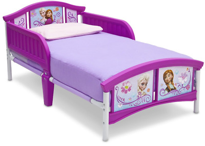 Delta Children Disney Frozen Toddler Bed, Kids Cot Bed With Side Guards ANNA