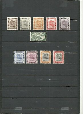 Brunei 1945-1949 Lot 10 Stamps Used/mint Hinged