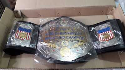 AWA  Silver Plated  Championship Wrestling Leather Belt