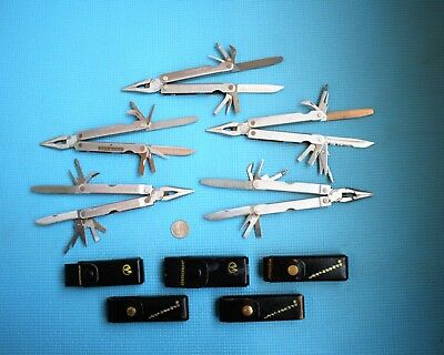 LOT OF 5 LEATHERMAN MULTI-TOOLS with LEATHER SHEATHS   Knife    Pliers