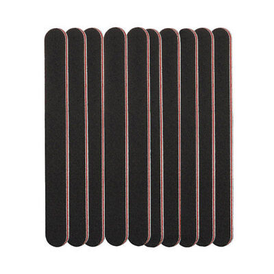 3 X Double Sided 180/100 Grit Straight Nail Files Manicure Emery Board Fi IXH