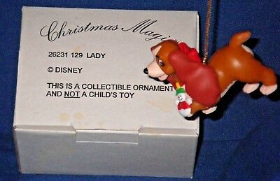 Lady and the Tramp Grolier Disney Collectible Christmas Ornament 26231 129 DCO