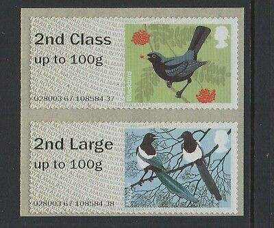 ERRORS  BIRDS  2  2nd CLASS/2nd CLASS LARGE COLLECTORS PAIR  NCR Post & Go