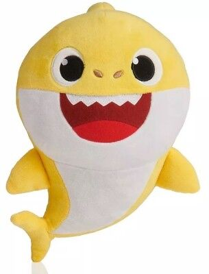 New PINKFONG Baby Shark Singing Plush English Yellow Doll WoWwee PREORDER