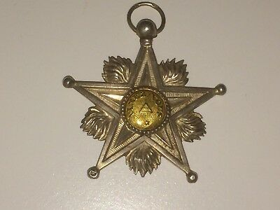 nice old possibly french masonic medal star silver aimez vous