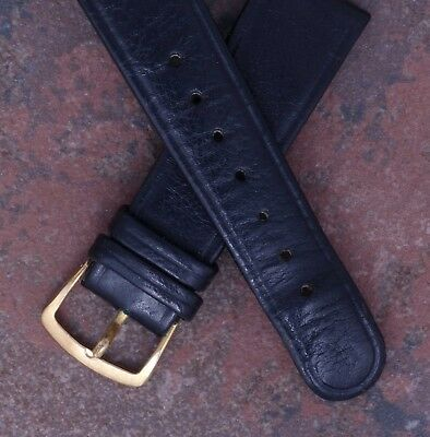 Girard Perregaux 70s Vintage New Old Stock 18mm Black Leather Watch Band Strap