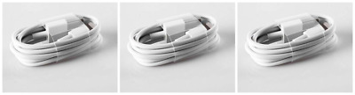 3x USB Chargers Data Lightening Cable Power Cord For Apple iPhone 6 S C 8 7 Plus