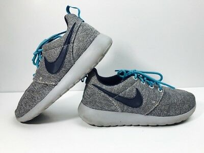 b49854255ce5 Nike Roshe One GS 599728-040 Grey Navy Blue Running Shoes Youth Sz 4Y GUC