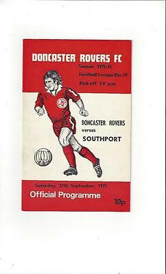 Doncaster Rovers v Southport 1975/76 Football Programme