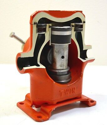 Rare Hypro C5200 Big Twin Piston Pump Salesmen Sample Display Cut Away Cut Out