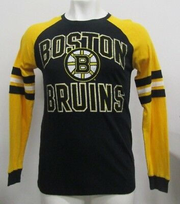 BOSTON BRUINS NHL Adidas Men s Ivory Originals Thermal Long Sleeve ... c3c856738