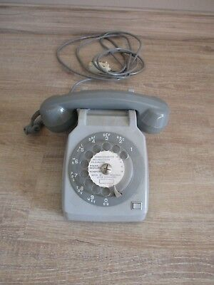 Telephone S63 Gris Cadran Vintage Collector