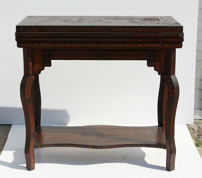Convertible Gaming Table, Wooden Table with Inlay work