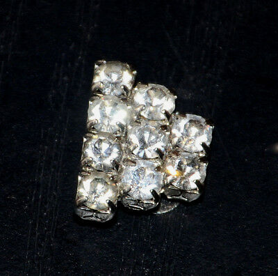 antique rhinestone dress clip vintage metal