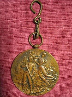 1930 Bronze Firemen'S 25Th Anniversary Medal – Pompiers Bovevange, Luxembourg