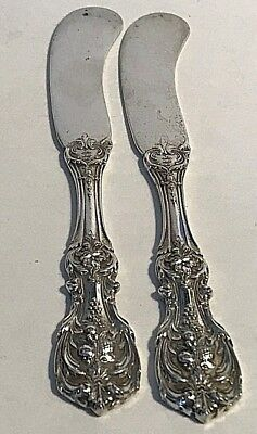 Francis 1st Old Style 2 Butter Knives  by Reed & Barton Sterling Silver 5 3/4''