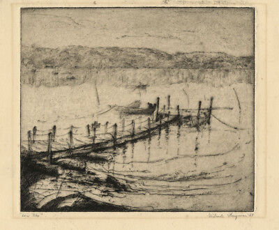 Low Tide by Gertrude Freyman - Signed etching 1927
